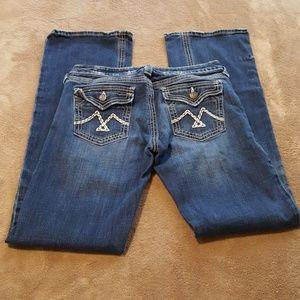 Vigoss Jeans. Flare Leg. Cute Back Pockets. Sz 5